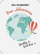 New Adventures Goodbye & Good Luck Card